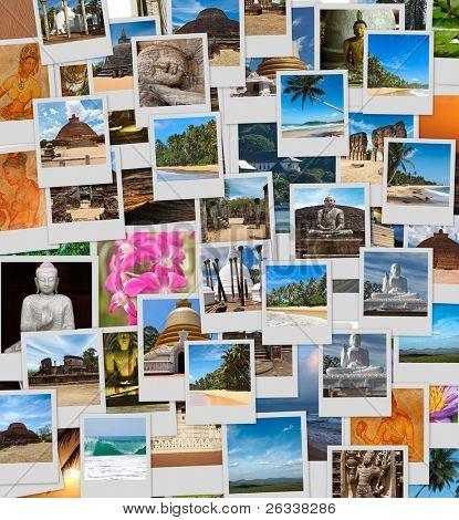 Collage of images of Sri Lanka