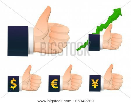 vector business successful hand