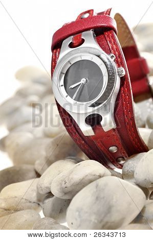 ladies watch on stones