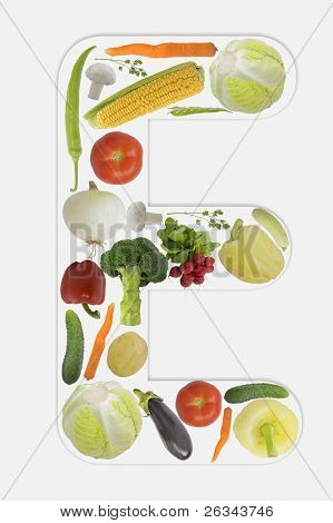 Alphabet of vegetable - E