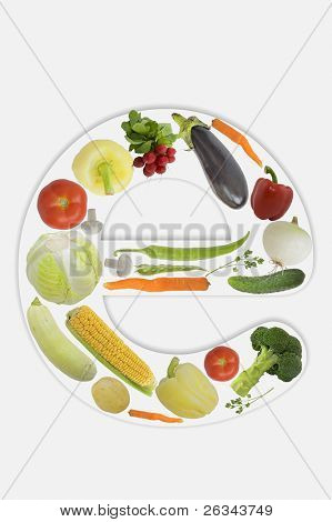 Alphabet of vegetable - e