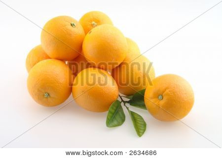 Oranges In Bunch