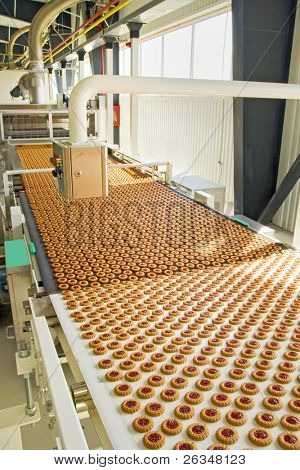production cookie in factory