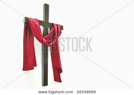 cross on white background