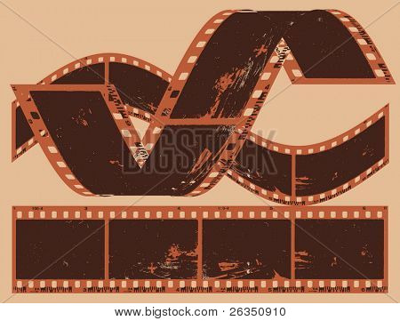 Grunge photographic film frame, vector illustration