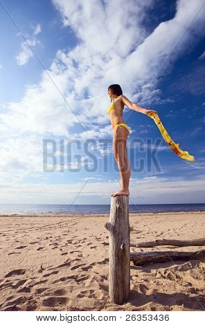 Girl On A Beach.