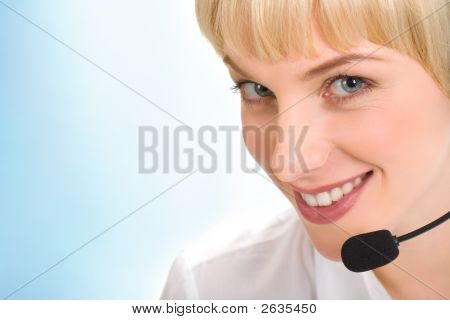 Face Of Telephone Operator