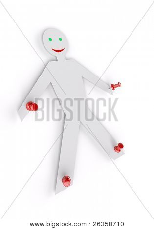 dummy on red pin