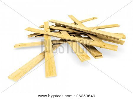 3d  a pack of wood boards