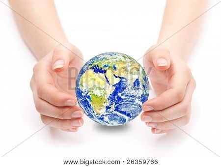 earth on hand