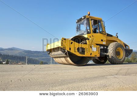 street leveling heavy equipment