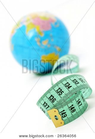 concept image for weight, nutrition, economy, population statistics