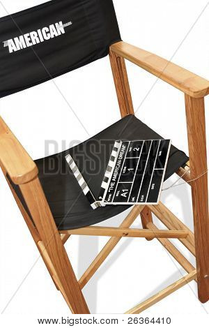 movie director's chair shooting