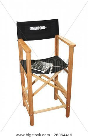 "movie director's chair shooting "" the American dream', 'clipping path'"