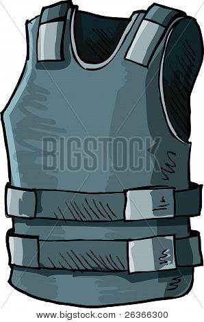 Illustration of bullet proof vest