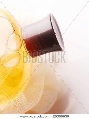 Badeprodukte, Körperöle und Schwamm