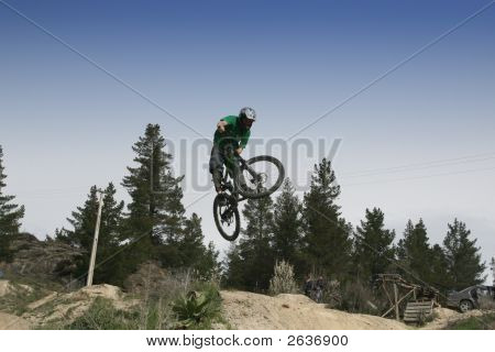 Biker Jumping In The Air