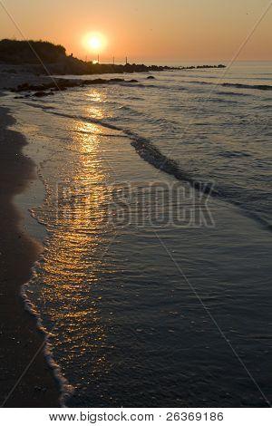 beautiful sunrise over sea shore