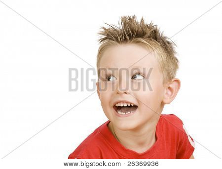 cute little boy laughing