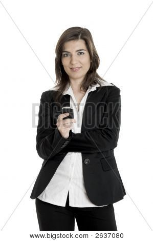 Businesswoman Making A Phone Call