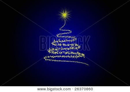 Stylized Christmas Tree Design Illustration