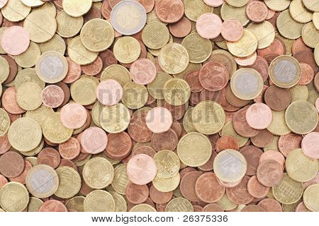 background of euro coins
