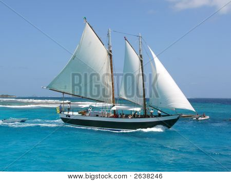 Sail Boat On The Sea
