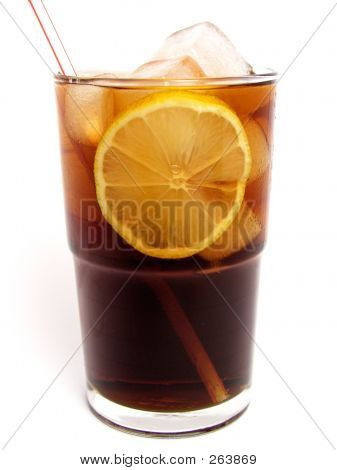 Ice Cola In Glass
