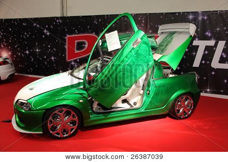 Essen, Germany - Nov 29: Opel Tigra With Gull-wing Doors From Dts Tuningstar Shown At The Essen Moto