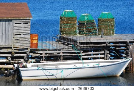 Boat And Lobster Traps