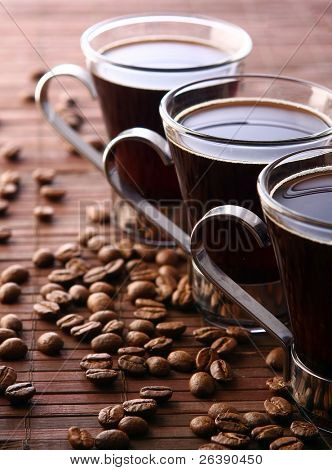 taza de café fresco y sabroso
