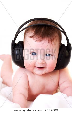 Baby With Earphones