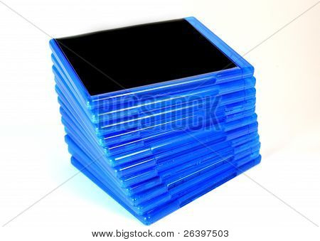 Stack Of Bluray Disk Boxes