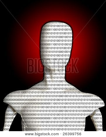 Blank Binary Man