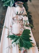 Perfect wedding decoration. Flower table decorations for wedding poster