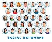 Social Networks. Connected People And Social Network. Creative Social Networking People. Social Netw poster
