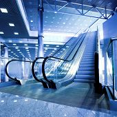 image of escalator  - Escalators in exhibition centre - JPG