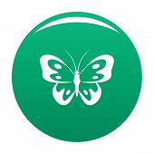Butterfly In Wildlife Icon. Simple Illustration Of Butterfly In Wildlife Icon For Any Design Green poster