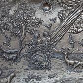 pic of adam eve  - artwork Adam and Eve silver carve art - JPG