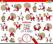 Find One Of A Kind Game With Santa Claus Characters poster