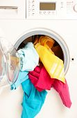 image of washing machine  - Close - JPG