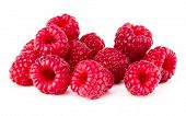 ripe raspberry. Raspberries isolated on white background close up poster