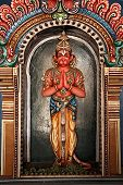 stock photo of trichy  - Hanuman statue in Hindu Temple - JPG