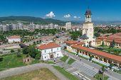 Alba Iulia Aerial View Of The Citadel Alba-carolina In Alba Iulia, Romania poster