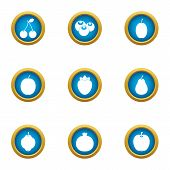 Orchard Icons Set. Flat Set Of 9 Orchard Vector Icons For Web Isolated On White Background poster