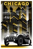 Retro Poster: Once Upon A Time In Night In Chicago. poster