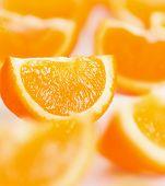 Постер, плакат: Апельсины в ломтики