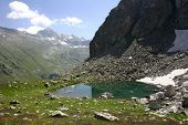 foto of firn  - Alpine Lake Alpine latitudes at different times of the year - JPG