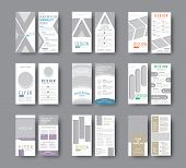 Set Of Dl Vector Flyers With Different Geometric Shapes For Photo Design. Templates White Flyers For poster