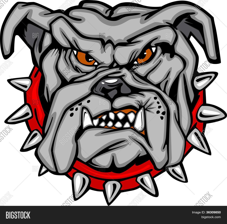 Bulldog Cartoon Face Vector Illustration Stock amp Photos